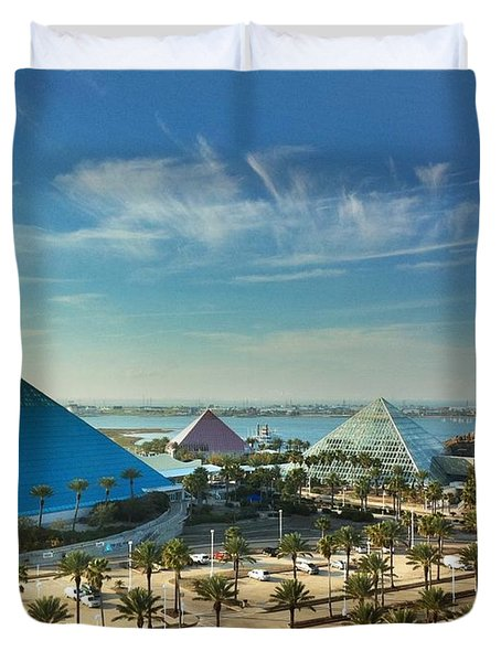 Moody Gardens In Galveston Duvet Cover