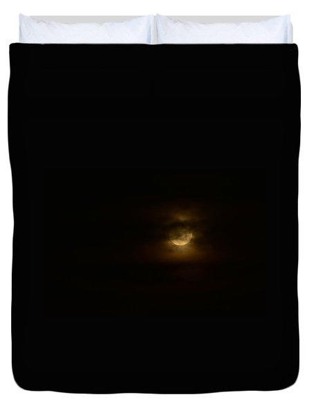 Moon And Clouds I Duvet Cover