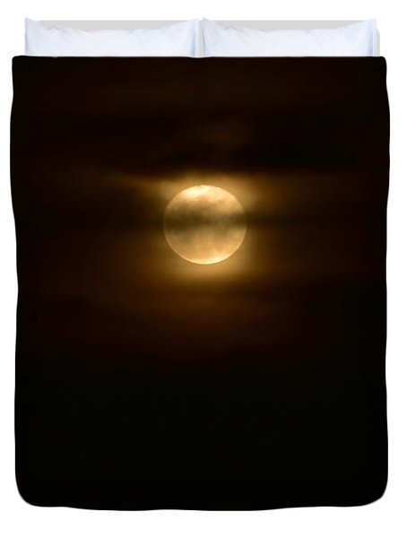 Moon And Clouds II Duvet Cover