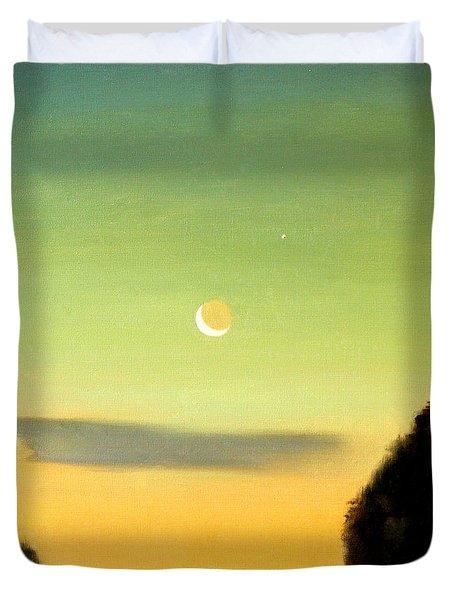 Moon And Venus Duvet Cover