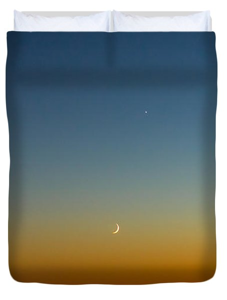 Moon And Venus I Duvet Cover