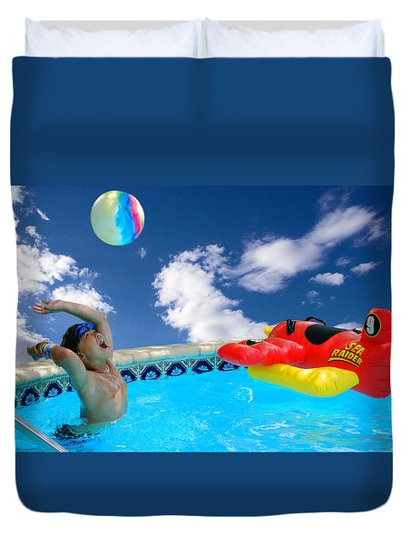 Moon Ball Duvet Cover by Roy Williams