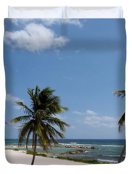 Duvet Cover featuring the photograph Moon Bay by Amar Sheow