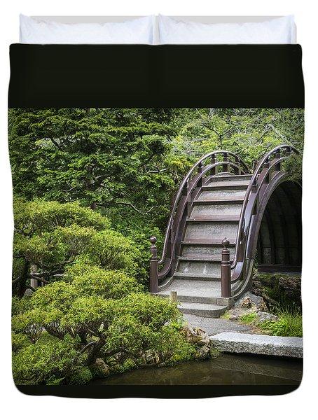 Moon Bridge - Japanese Tea Garden Duvet Cover