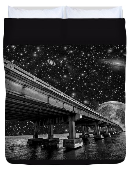 Moon Bridge Duvet Cover