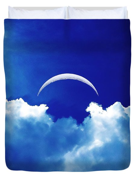 Duvet Cover featuring the photograph Moon Cloud by Joseph J Stevens