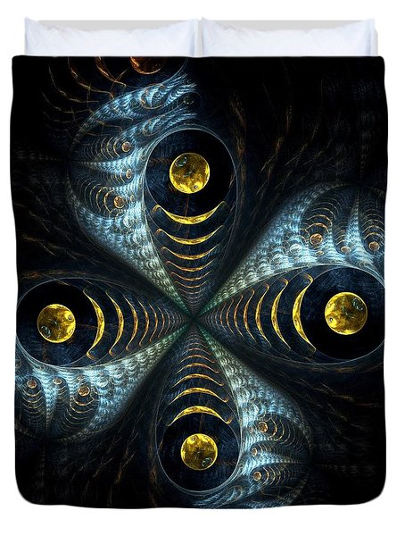 Moon Cross Duvet Cover by Anastasiya Malakhova