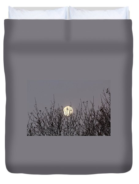 Moon Fall Duvet Cover