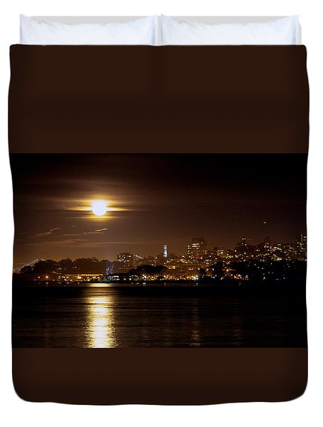 Duvet Cover featuring the photograph Moon Glow by Steven Reed
