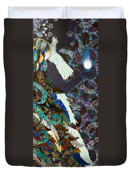 Moon Guardian - The Keeper Of The Universe Duvet Cover by Apanaki Temitayo M