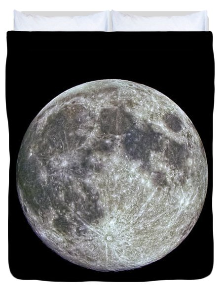 Duvet Cover featuring the photograph Moon Hdr by Greg Reed