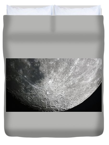 Moon Hi Contrast Duvet Cover by Greg Reed
