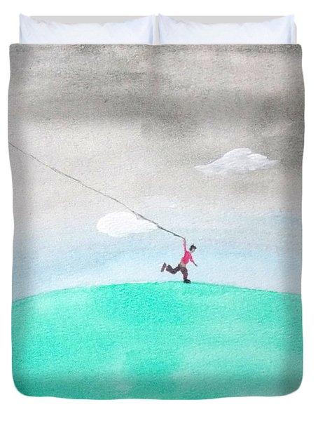 Moon Is My Kite Duvet Cover