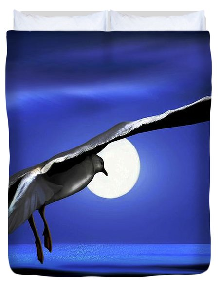Moon Launch Duvet Cover by Dale   Ford