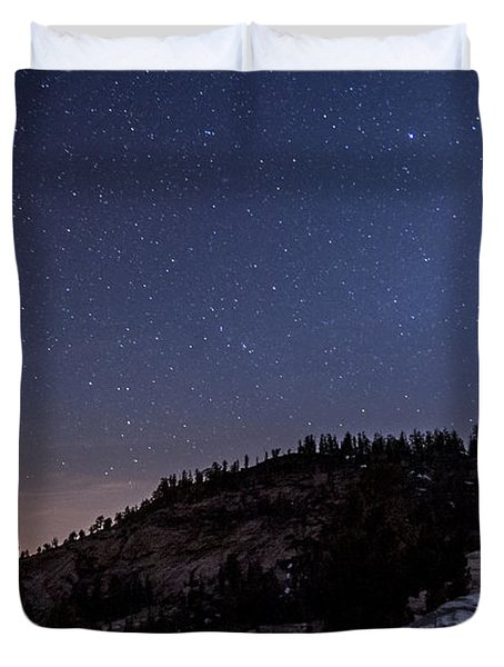 Moon Light At Olmstead Point Duvet Cover by Cat Connor