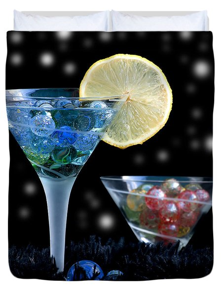 Moon Light Cocktail Lemon Flavour With Stars 1 Duvet Cover