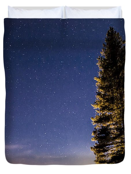 Moon Light Over Tenaya Lake Duvet Cover by Cat Connor
