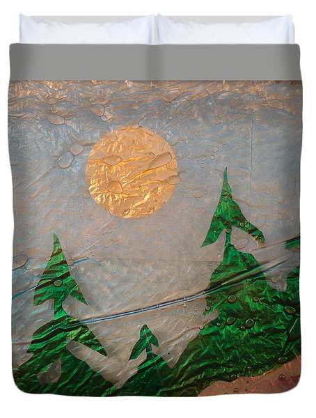 Moon Mist  Duvet Cover by Rick Silas