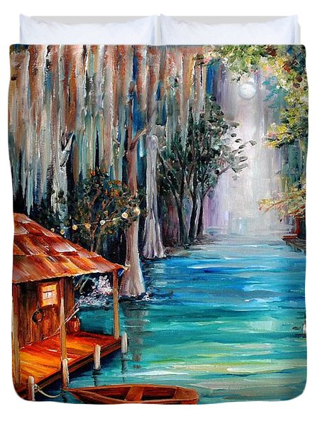 Moon On The Bayou Painting By Diane Millsap