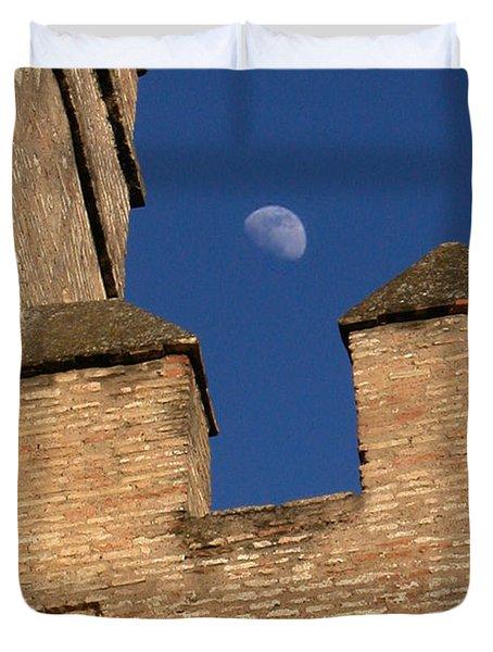 Moon Over Alcazar Duvet Cover