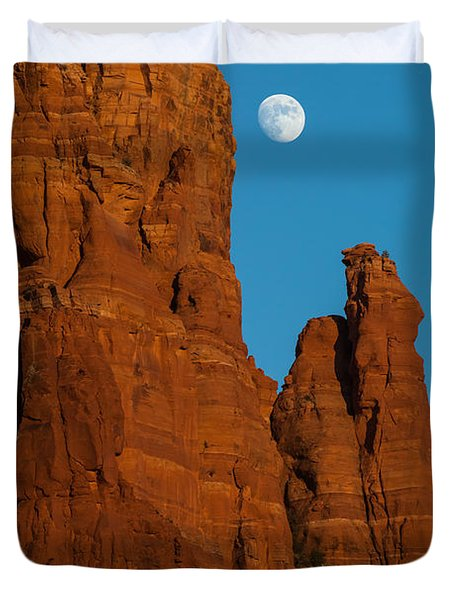Moon Over Chicken Point Duvet Cover