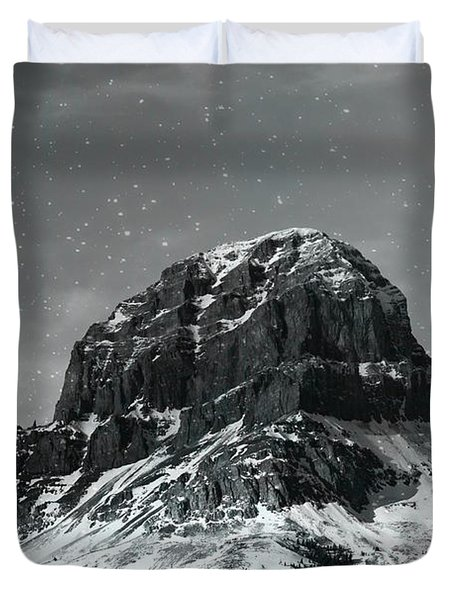 Moon Over Crowsnest Duvet Cover by Alyce Taylor