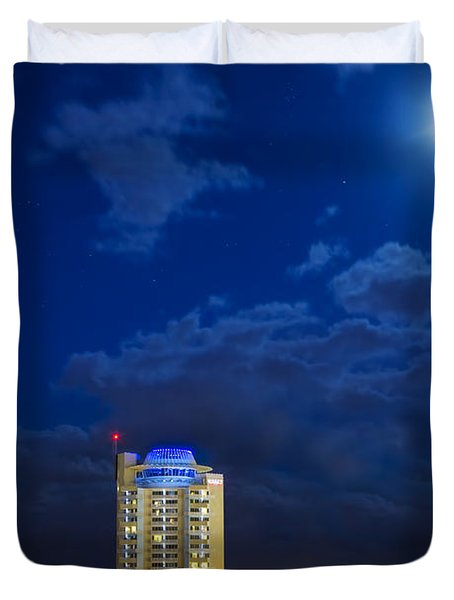 Moon Over Ft. Lauderdale Duvet Cover