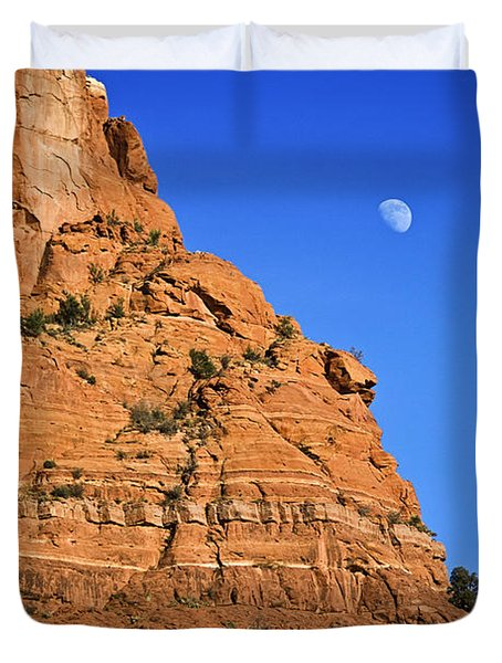 Moon Over Sedona Duvet Cover