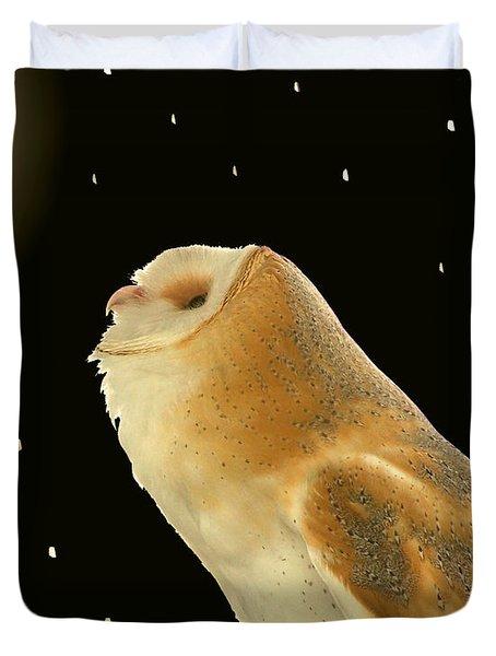 Moon Owl Duvet Cover
