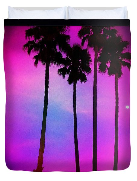 Moon Palms Duvet Cover