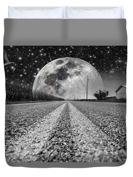 Moon Rise Country  Duvet Cover