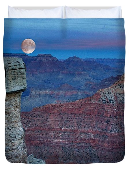 Moon Rise Grand Canyon Duvet Cover
