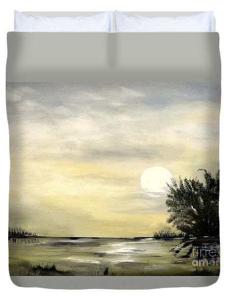Moon Shadow Duvet Cover by Carol Sweetwood