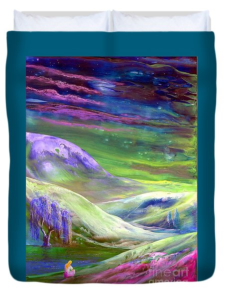 Moon Shadow Duvet Cover by Jane Small