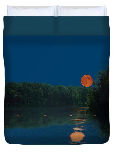 Moon Shot Duvet Cover