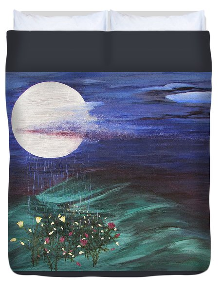 Moon Showers Duvet Cover