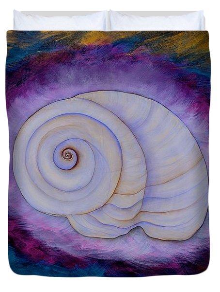 Moon Snail Duvet Cover by Deborha Kerr