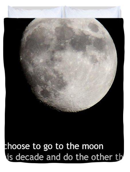 Moon Speech Duvet Cover