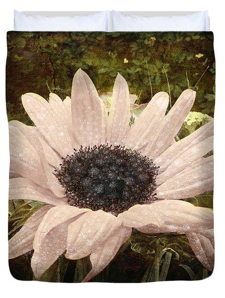 Duvet Cover featuring the digital art Moonflower by Barbara Orenya