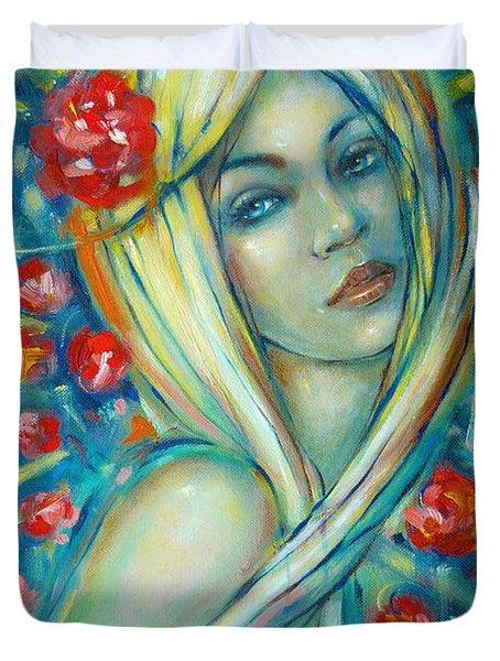 Moonlight Flowers 030311 Duvet Cover