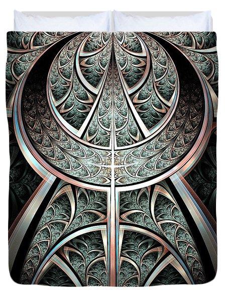 Moonlight Gates Duvet Cover by Anastasiya Malakhova