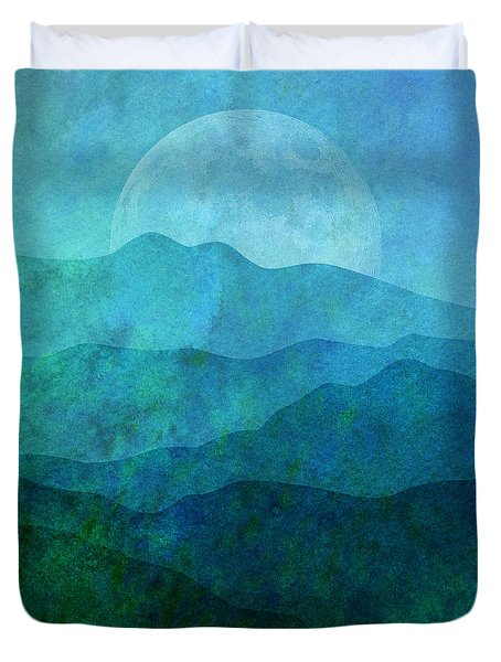 Moonlight Hills Duvet Cover