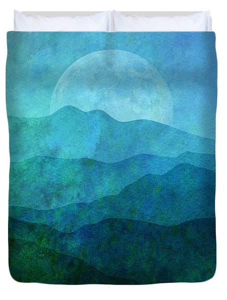 Moonlight Hills Duvet Cover