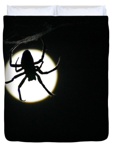 Duvet Cover featuring the photograph Moonlight Hunter by Christopher McKenzie