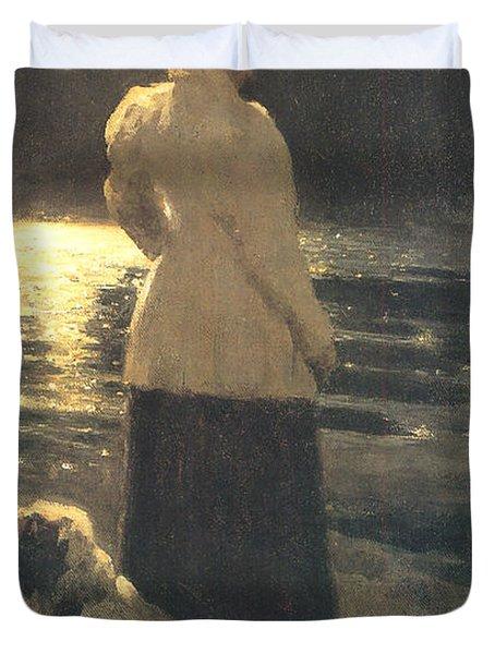 Moonlight Duvet Cover by Ilya Repin