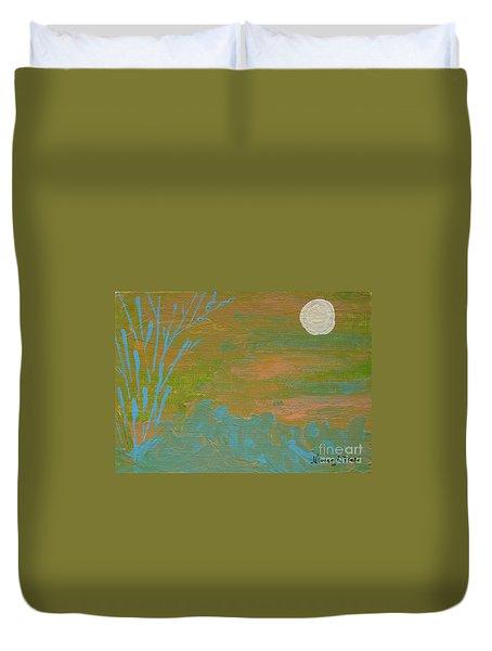 Moonlight In The Wild Duvet Cover