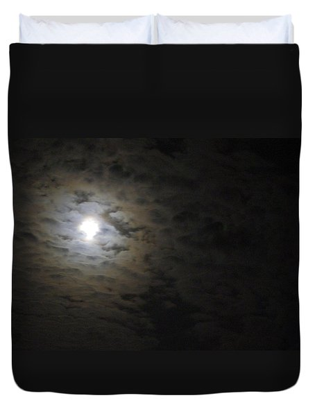 Duvet Cover featuring the photograph Moonlight by Marilyn Wilson