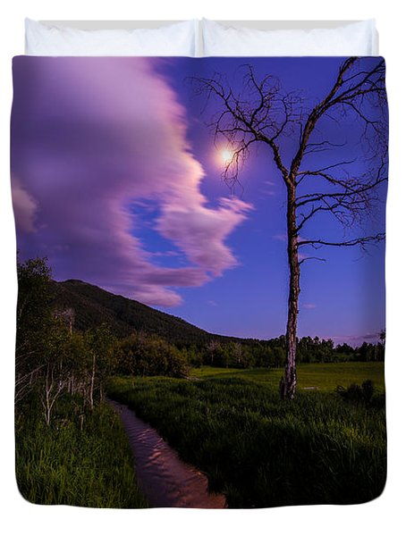 Moonlight Meadow Duvet Cover