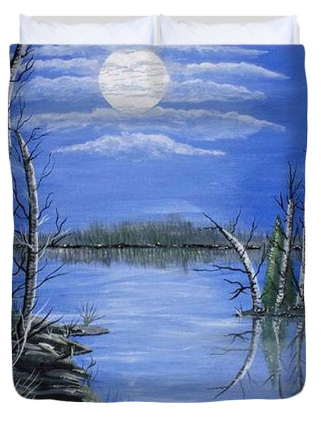Moonlight Mist Duvet Cover by Brenda Brown