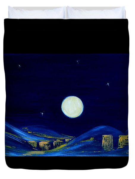 Moonlight. Winter Collection Duvet Cover